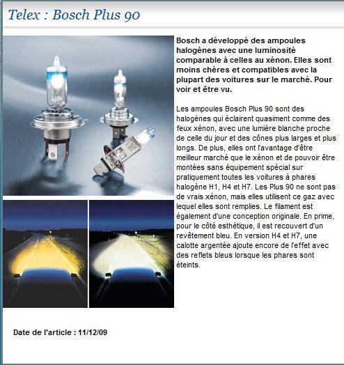 eclairage nouvelle ampoule bosch plus 90 du quasi x non. Black Bedroom Furniture Sets. Home Design Ideas