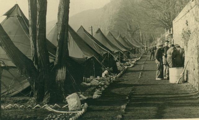 Marcheles-Dames en 1950, cantonnement. Albert018-1250337