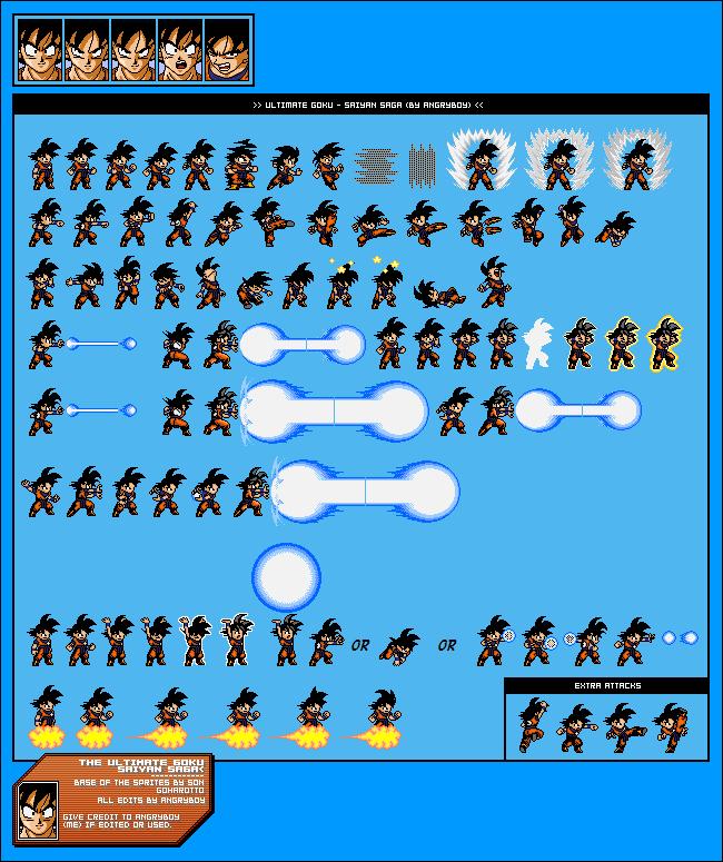 Muchos Sprites De Dragon Ball Z